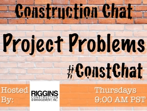 This week's #ConstChat topic is how to deal with project challenges.